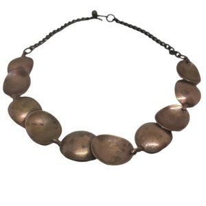 Vintage Minamlist Copper Abstract Necklace